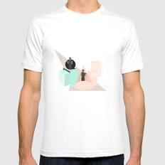Not Constant MEDIUM White Mens Fitted Tee