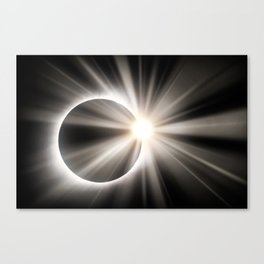 Total Solar Eclipse and Sunstar Canvas Print