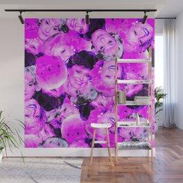 Golden Girls Toss in Electric Pop Pink Wall Mural