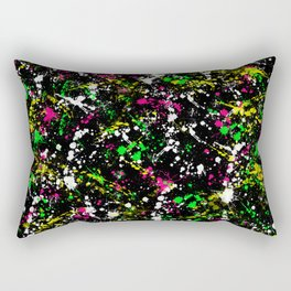 paint drop design - abstract spray paint drops 3 Rectangular Pillow