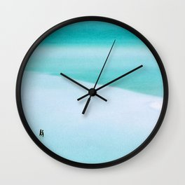 Whitehaven Beach Wall Clock
