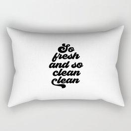 So Fresh And So Clean Clean, Bathroom Art Rectangular Pillow