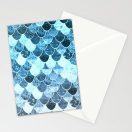 REALLY MERMAID SILVER BLUE Stationery Cards