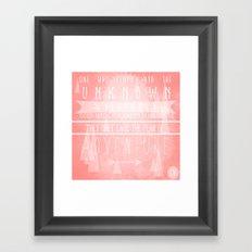 A D V E N T U R E Framed Art Print