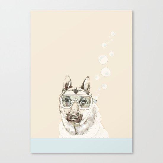 Diver Dog Canvas Print