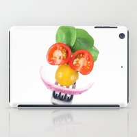 vegetables iPad Cases featuring Happy Vegetables by Chantal Seigneurgens