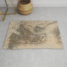 Vintage Map of Constantinople (1859) Rug