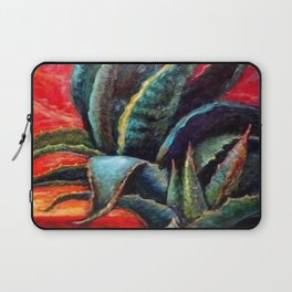 """WESTERN BLUE AGAVE ABSTRACT """"SHIP OF THE DESERT"""" Laptop Sleeve"""