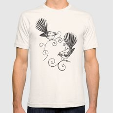 Fantails Mens Fitted Tee X-LARGE Natural