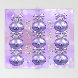 The Joy of Christmas - Purple Throw Blanket