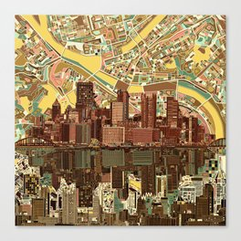 pittsburgh city skyline Canvas Print