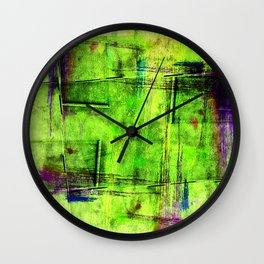 Fools Hands in the shades of the year 2017 Wall Clock