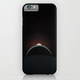 2001 Space Odyssey Sun, Earth, Moon Alignment iPhone Case