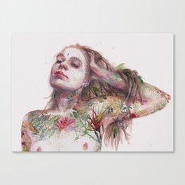 Leaves on Skin Canvas Print