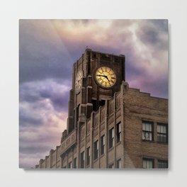 Under the Clock Metal Print