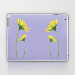 Yellow Daisy Twins on Lavender Laptop & iPad Skin