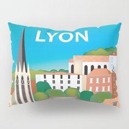 Lyon, France - Skyline Illustration by Loose Petals Pillow Sham