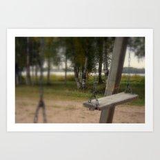 Lonely Swing Art Print