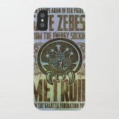 Save Zebes! Metroid Geek Art Vintage Poster Slim Case iPhone X