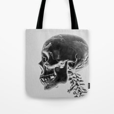 X-Ray Skull Tote Bag