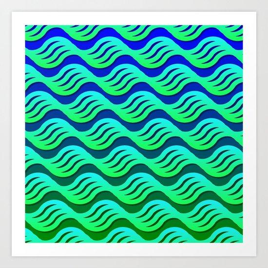 On a Placid Sea Art Print