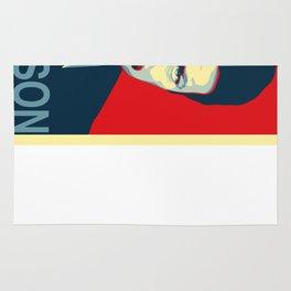 Ron Swanson (Parks & Rec) 'Hope' Poster Parody Rug