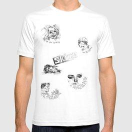 Skins: effy, jj, sid, cassie, freddie T-shirt