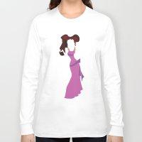 hercules Long Sleeve T-shirts featuring Megara from Hercules Disney Princess by Alice Wieckowska