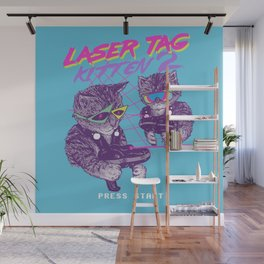 Laser Tag Kitten 2 Wall Mural