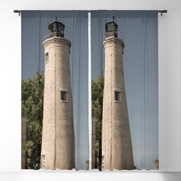 Kenosha Southport Light Station Light Tower Lighthouse Lake Michigan Blackout Curtain