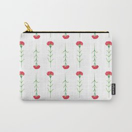 Carnations flowers watercolor art Carry-All Pouch