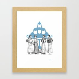 old fashioned cooking Framed Art Print