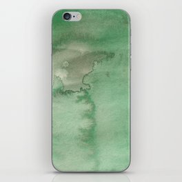 Hand painted forest green brown watercolor camo pattern iPhone Skin
