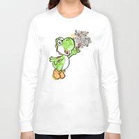 yoshi Long Sleeve T-shirts featuring Yoshi Wonderland !  by Art & Be