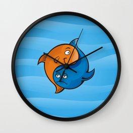 Yin Yang Fish Cartoon Wall Clock