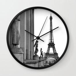 Trocadero Eiffel Tower Paris Wall Clock