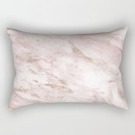 Pink marble - rose gold accents Rectangular Pillow