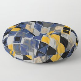 Abstract Composition 390 Floor Pillow