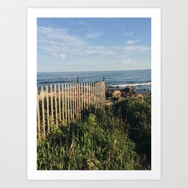 Ocean's Edge Path in Rhode Island Art Print