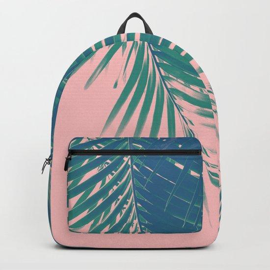 Palm Leaves Blush Summer Vibes #2 #tropical #decor #art #society6 by anitabellajantz