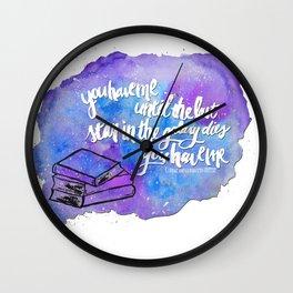 "illuminae ""you have me"" watercolor bubble galaxy Wall Clock"
