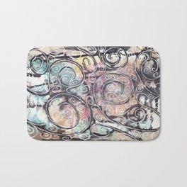 Sketchy Multicolor Swirls Bath Mat