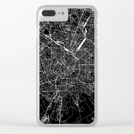 Milan Black Map Clear iPhone Case