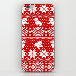 Fair Isle Westies iPhone Skin