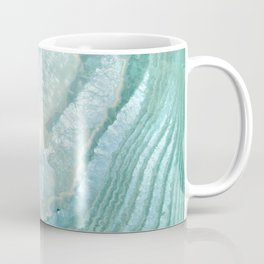 """Aquamarine Pastel and Teal Agate Crystal"" Coffee Mug"
