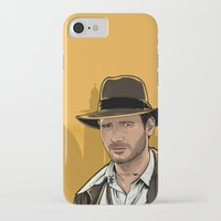 indiana jones iPhone & iPod Cases featuring Indiana by Akyanyme