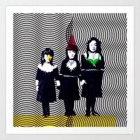 sœurs japonais Art Print