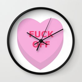F*ck Off Conversation Heart Wall Clock