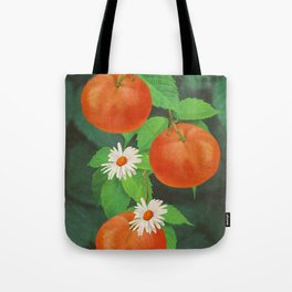 Branch Of Mandarin Orange Tote Bag