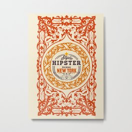 Hipster Style 6th Avenue Metal Print